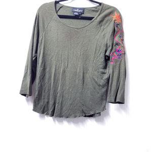 Carole Little Women's Green Long Sleeved Shirt